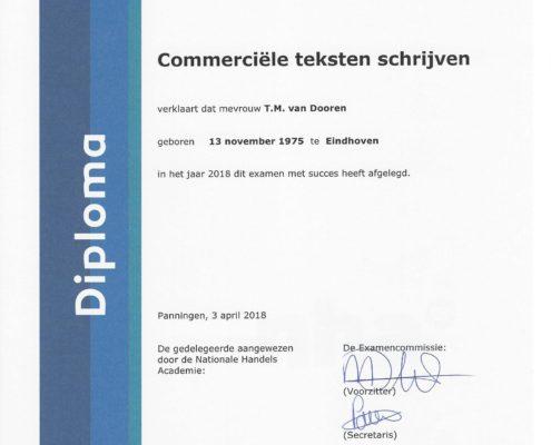 Diploma Commerciële teksten schrijven